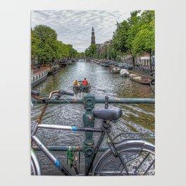 Amsterdam Bridge Canal View Poster
