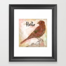 Hello Bird Framed Art Print