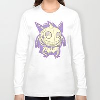 gengar Long Sleeve T-shirts featuring Pocket Man Anatomy #94 Gengar by jazzmoth
