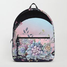 Succulent full moon Backpack