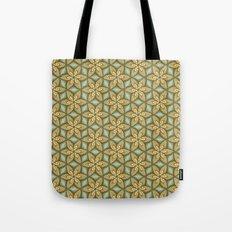Flower pattern green/yellow Tote Bag