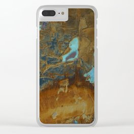 Blue Lagoons in Rusty World Clear iPhone Case