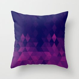 Geo Pattern Plum Throw Pillow