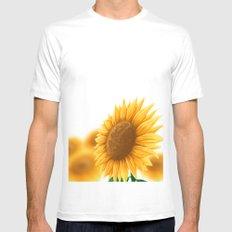 Sunflower MEDIUM Mens Fitted Tee White