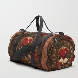 Steampunk, awesome steampunk heart Duffle Bag