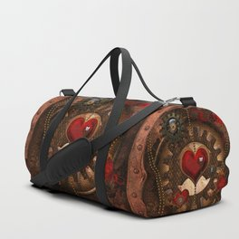 Steampunk, awesome steampunk heart Duffle Bag