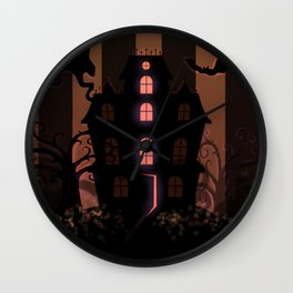Be it ever so Haunted, there's no place like Home - Brown Wall Clock
