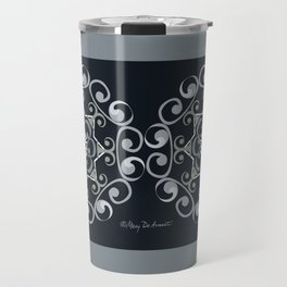 Grace Mandala x 2 - Gray Black Travel Mug