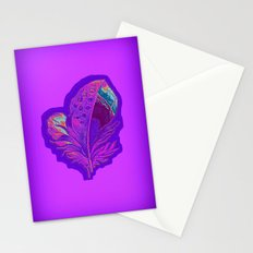 Lee's Purple Feather Stationery Cards