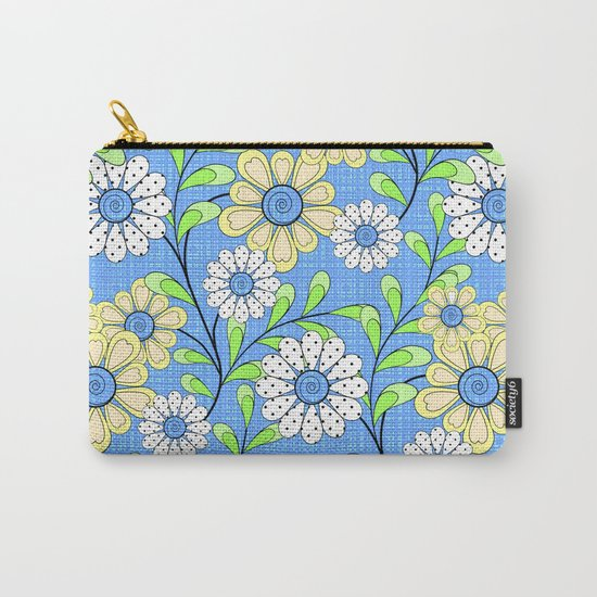 Bright floral pattern. Carry-All Pouch