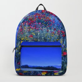 Spring poppies at blue hour Backpack