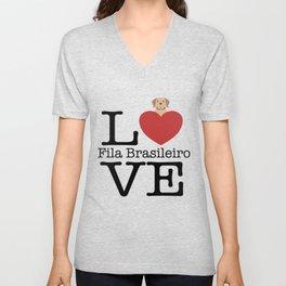 Love Cute Fila Brasileiro Unisex V-Neck