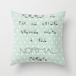 Remember if anyone asks ~ Polka Dots ~ poster ~ typography ~ illistration Throw Pillow