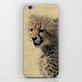 Cheetah cub iPhone Skin