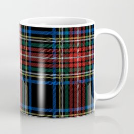 Minimalist Black Stewart Tartan Coffee Mug