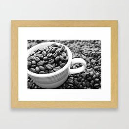 Black and White Coffee Photography - Don't Be Latte Framed Art Print