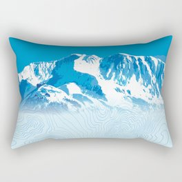 Mt. Alyeska Alaska All-Over! Rectangular Pillow