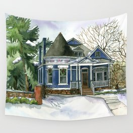 Winter Blues Wall Tapestry