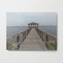 Gulf Shores Resort Pier Metal Print