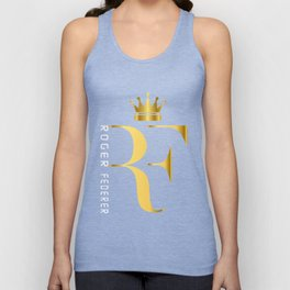 Roger Federer The King of Tennis Unisex Tank Top