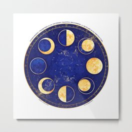 Celestial Atlas :: Lunar Phases Metal Print