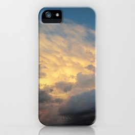 Angry Skies, Sad Goodbyes iPhone Case