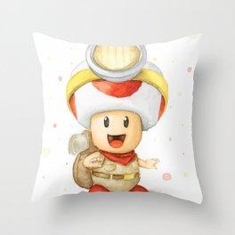 Captain Toad Throw Pillow