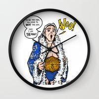 wwe Wall Clocks featuring Ric Flair, THE MAN! (WWE, WWF, WCW, NWA) by RandallTrang