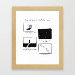 some of the truths i know Framed Art Print