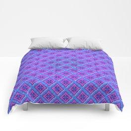 Purple Pillow Puffs Pattern Comforters