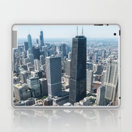 aerial view of the hancock tower in Chicago Laptop & iPad Skin