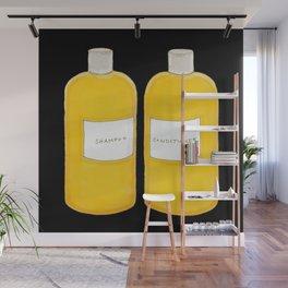 Shampoo & Conditioner (black) Wall Mural