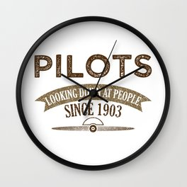 Pilot Proud Aviation Lover Gift Idea Wall Clock