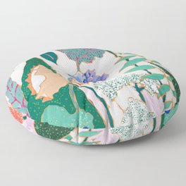 Speckled Garden Floor Pillow