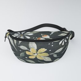 Southwest Style Oval Floral Gouache Painting Fanny Pack