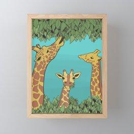 Giraffes Gone Wild Framed Mini Art Print