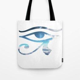 Eye of Horus Sky Background Tote Bag