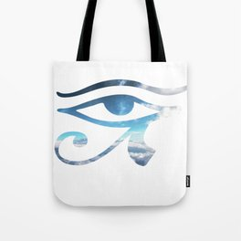 Eye of Horus Sky Background Tote Bag