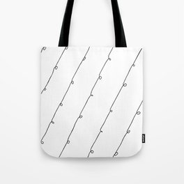 Black&WhiteNodulesPattern Tote Bag