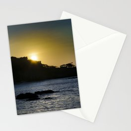 Sunset Scene at La Libertad Malecon, Santa Elena, Ecuador Stationery Cards