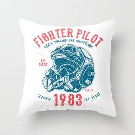 Fighter Pilot Throw Pillow
