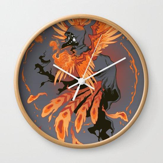 The Avian Arsonist Wall Clock
