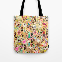 Decoupage Unicorns Tote Bag