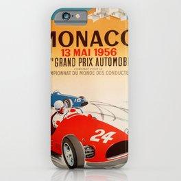 Monaco Grand Prix Poster iPhone Case