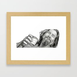 The Dude Framed Art Print