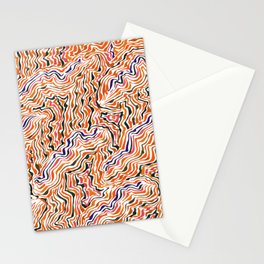 red topography Stationery Cards
