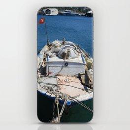 Moored Fishing Boat iPhone Skin