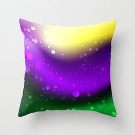 Abstract Mardi Gras Background Throw Pillow