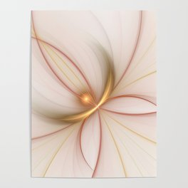 Nobly In Gold And Copper, Fractal Art Poster