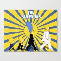 simpson Canvas Prints featuring Simpson Sun by sgrunfo